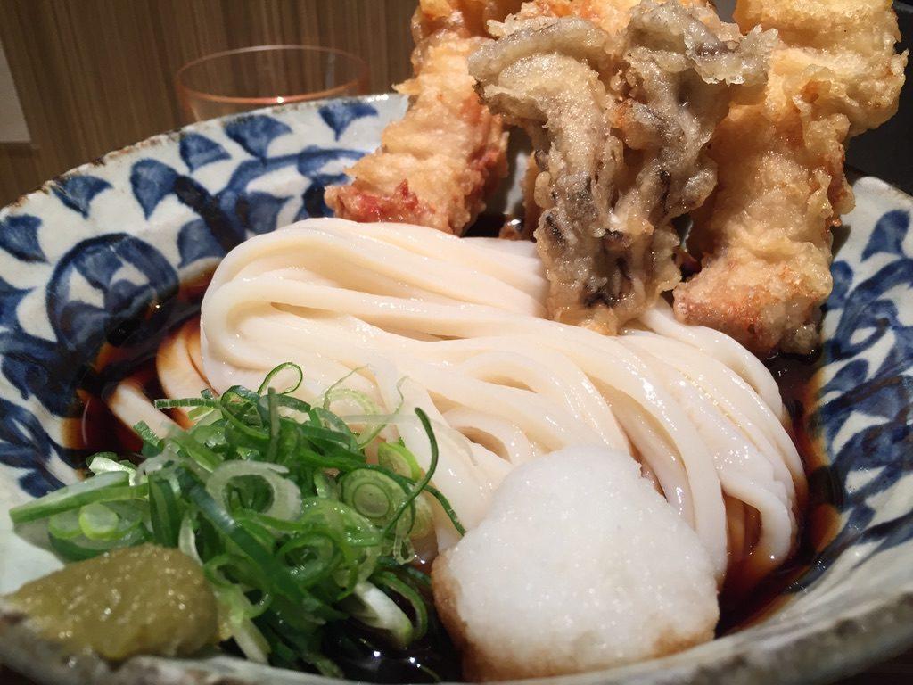 本町製麺所 本店 鶏天ぶっかけ