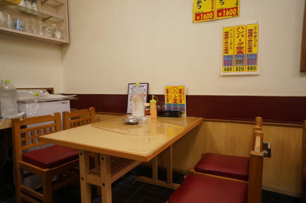 とんかつ一番 テーブル席
