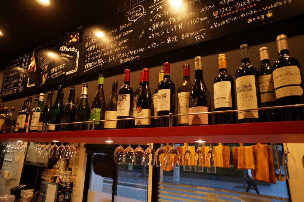 薫 並べられたワイン