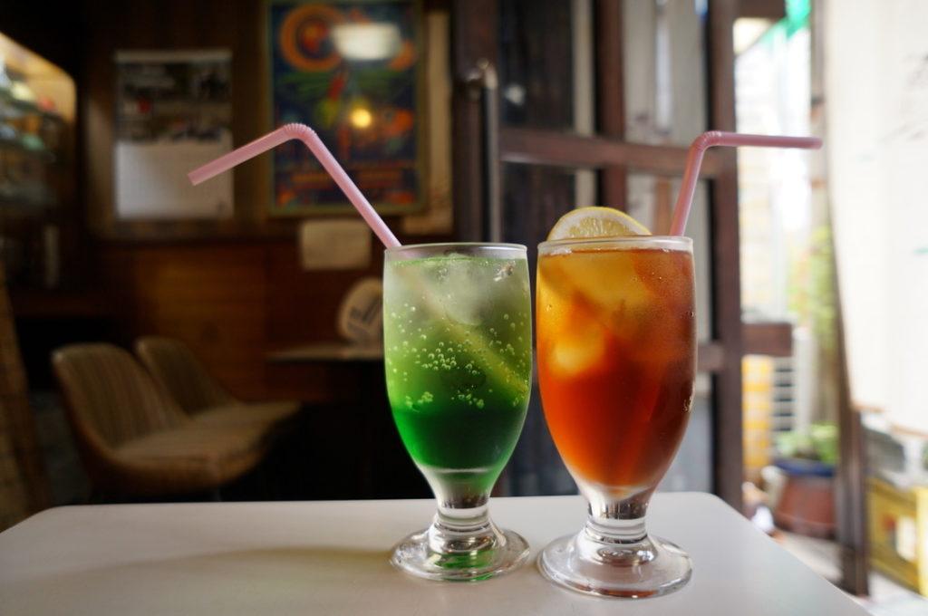 ナカノ ソーダ水・アイスレモンティー