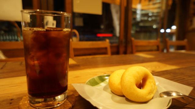 あたりきしゃりき堂 アイスコーヒー・ドーナツ