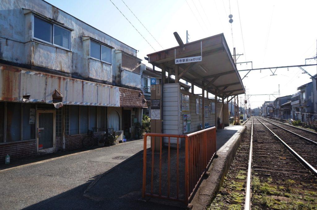 高須神社駅のホーム