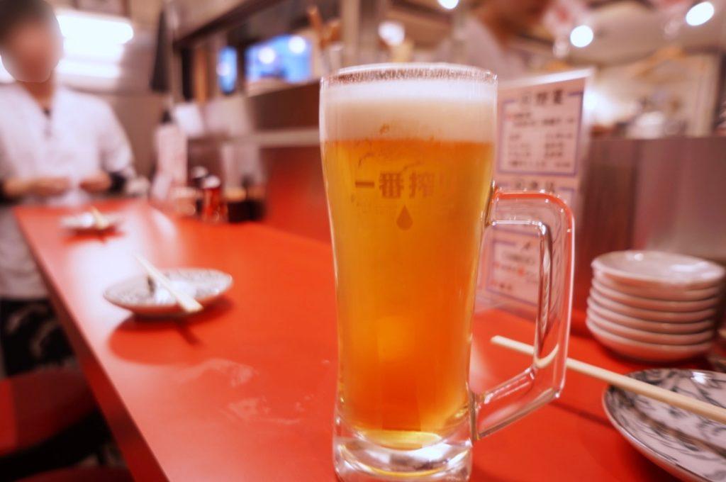 大阪餃子しな野 生ビール