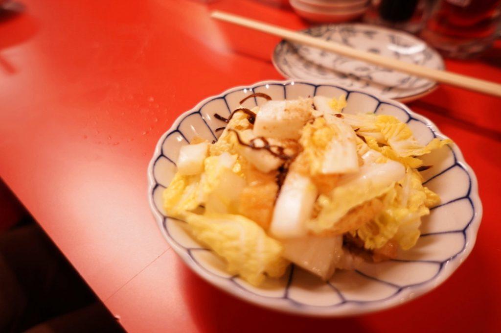 大阪餃子しな野 お通し