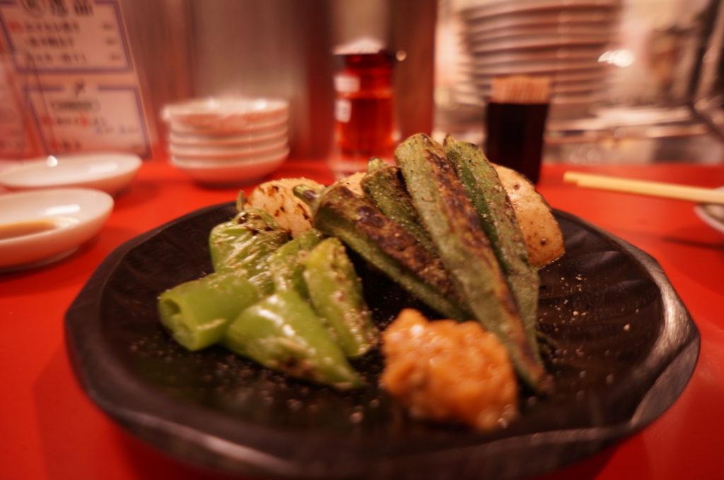 大阪餃子しな野 焼野菜おまかせ三種盛り
