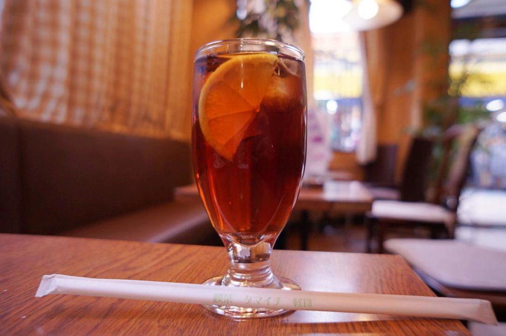 喫茶タマイチのアイスレモンティー