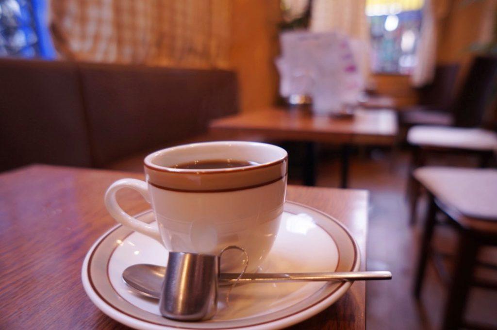 喫茶タマイチのホットコーヒー