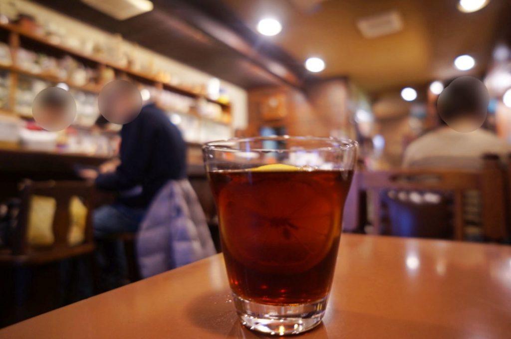 アラビヤコーヒーのアイスレモンティー