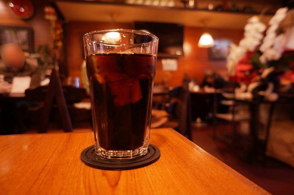 純喫茶ふじのアイスコーヒー