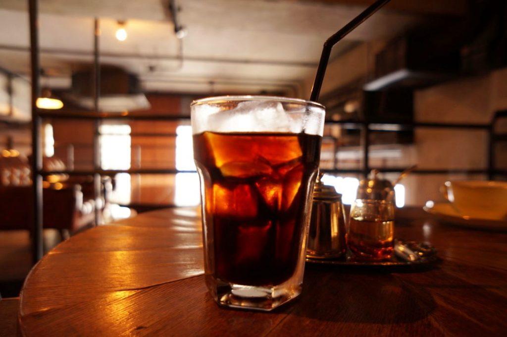 カフェバーネリーのアイスコーヒー