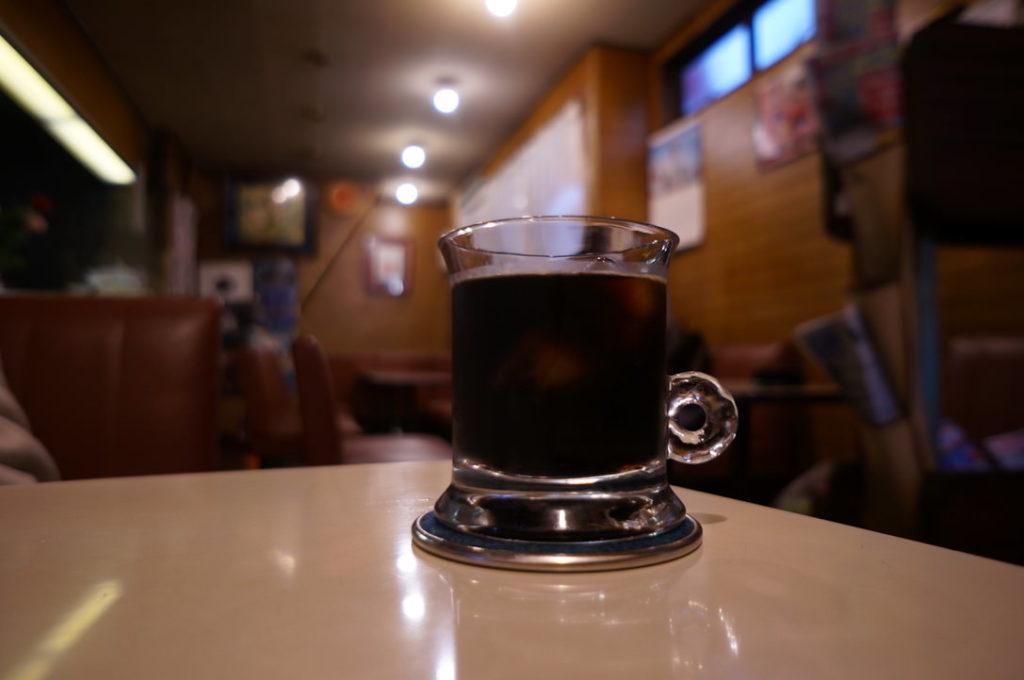 喫茶サンレモンのアイスコーヒー