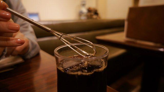スパニョラのアイスコーヒー