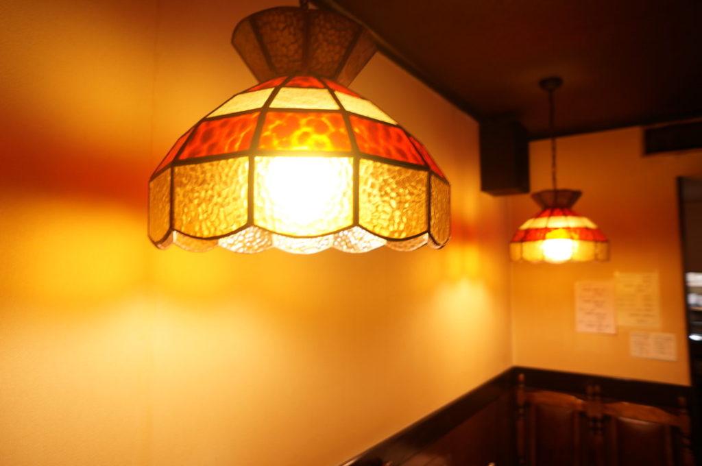 チコオ珈琲の照明