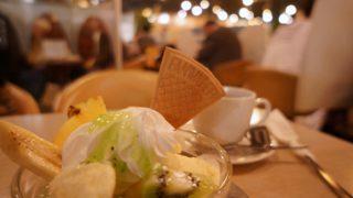 マヅラ喫茶店のクリームサンデー