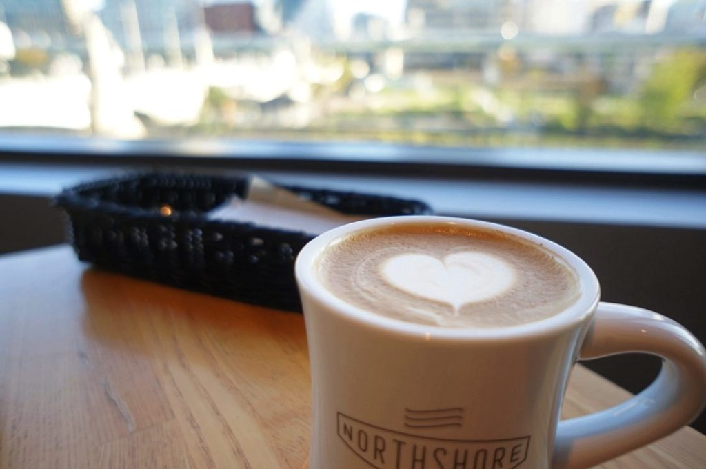 ノースショアのカフェラテ