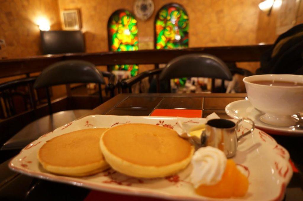 淀のホットケーキセット