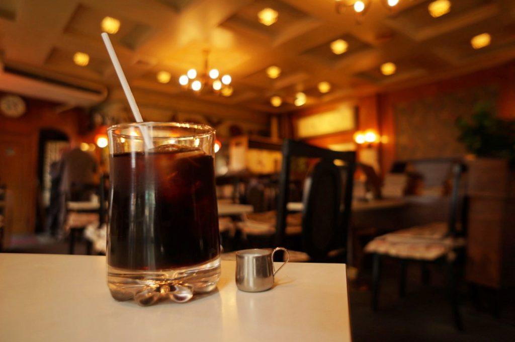 玉一総本店のアイスコーヒー
