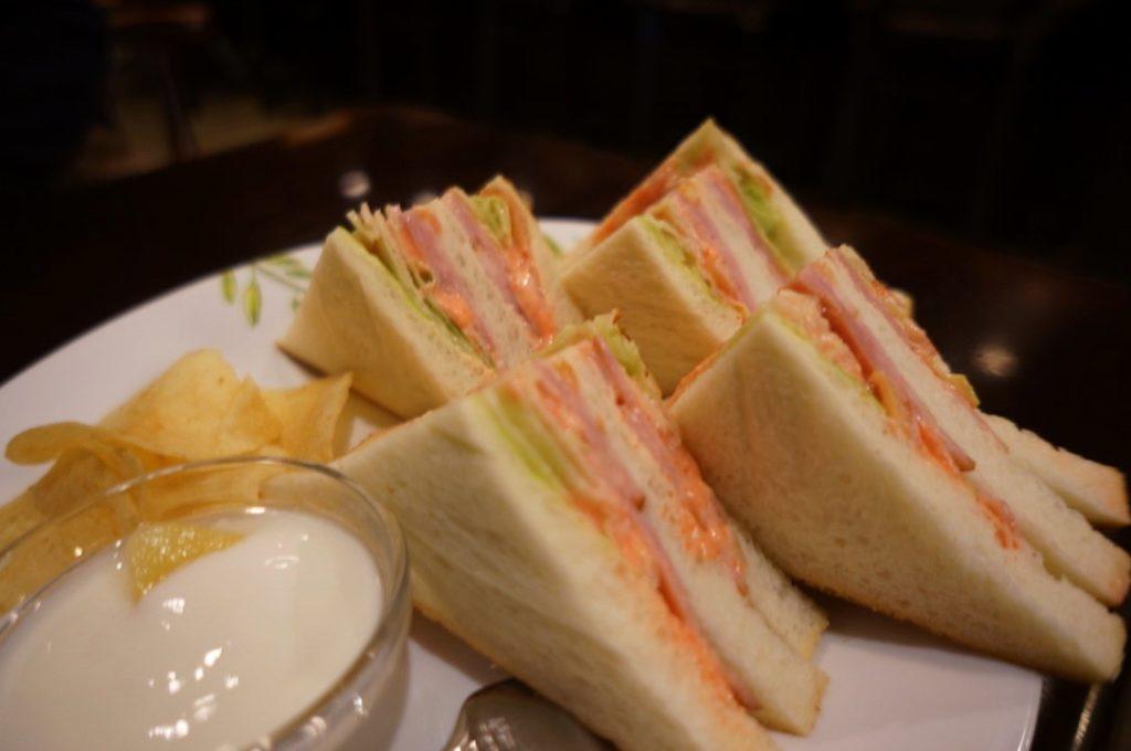 蝸牛庵のサンドイッチ