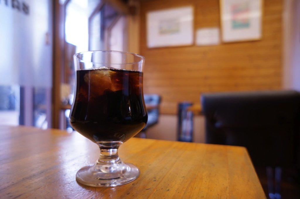喫茶バンビのアイスコーヒー