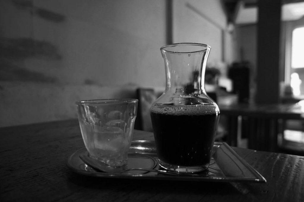 シェ・ドゥーブルのアイスコーヒー