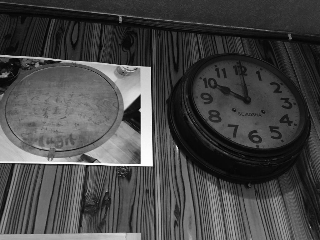 平岡珈琲店の時計