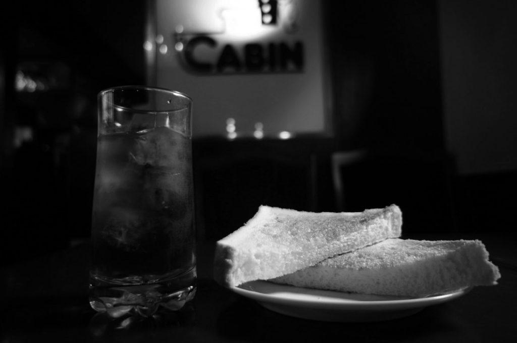 珈琲艇キャビンのコーヒーとトースト