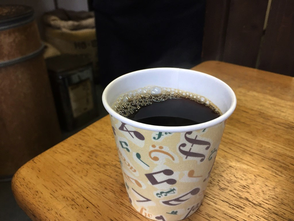ヤマワキコーヒーのホットコーヒー