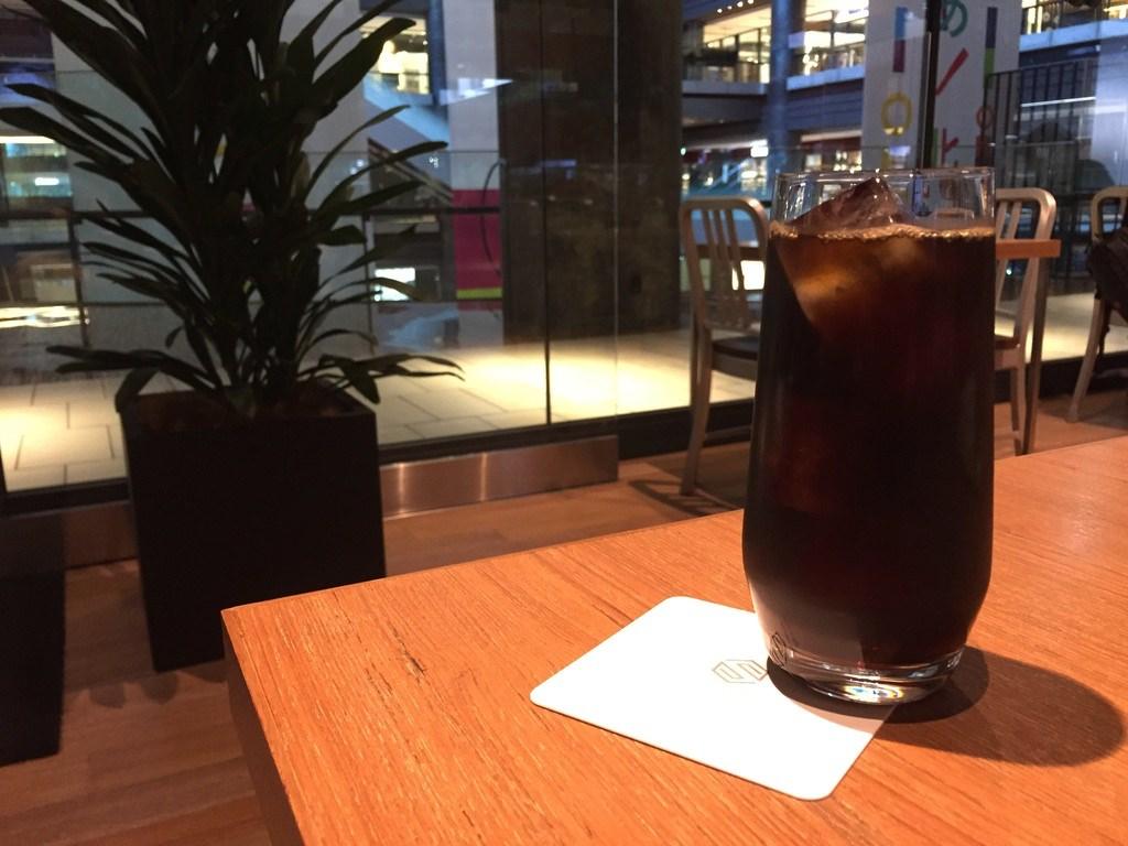 シマノスクエアのアイスコーヒー
